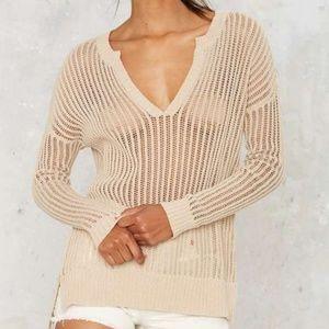 Nasty Gal Ain't Seen Nothin' Net Sweater